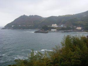 20090322-001国道311号線 磯崎手前より大泊と鬼ケ城方面