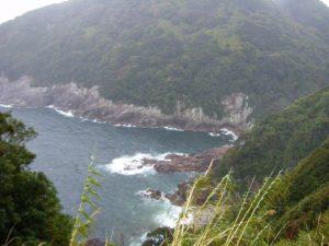 20090322-090甫母町 楯ガ崎案内板より 熊野灘に面する海岸