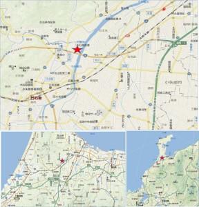 地図 アウトレットパーク北陸小矢部