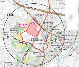 ららぽーと東郷 範囲地図