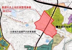 ららぽーと東郷 開発事業地図