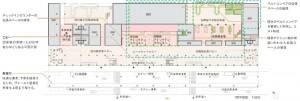 配置図-1階平面図 静岡空港