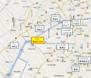 競合地図 バロー豊橋牟呂SC