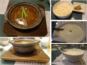 ★フカヒレつゆそばランチ20140621城北飯店 きんもくせいの砂糖漬けが杏仁豆腐の上