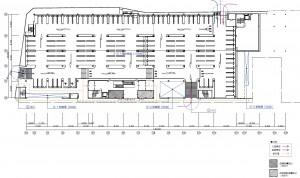 1階 建物配置図