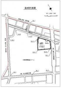 ららぽーと東郷 造成計画図
