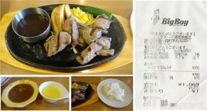 ★アンガス牛サーロインカット ランチ20140730ビッグボーイ津高茶屋 (注文品) (3)