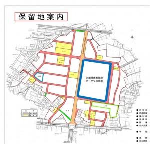 ◇オークワ出店予定地と 関笠谷地区整理事業-3保留地