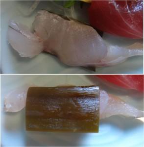 ★上刺身定食 ホウカイボウ昆布〆20140811みついと (4)