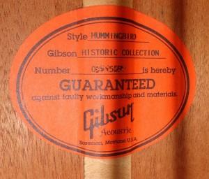 ◇オレンジラベル20140906ギブソンハミングバードヒストリックコレクション (6)