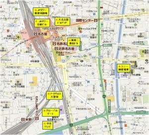 ◆地図名古屋駅周辺商業施設◆A-I