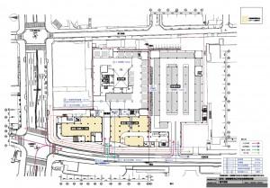ユニー納屋橋 1階配置図