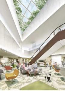 パース 3階レストスペース 大名古屋ビルヂング2014121101