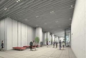 パース 1階オフィスエントランス 大名古屋ビルヂング2014121101