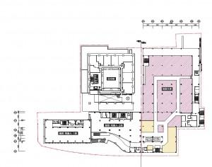 ユニー納屋橋 3階配置図