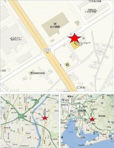 地図● カネスエフェルナ仁木店