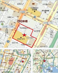 ◆地図 日本橋二丁目地区第一種市街地再開発事業