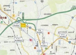 ◆地図 競合店 多治見光ヶ丘複合商業施設