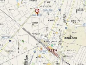 ヤオコー志木本町店 地図