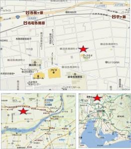 ◆地図 20150110クスリのアオキにんじん通り店
