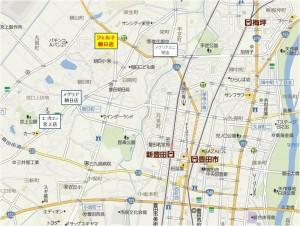 ■地図-競合 カネスエフェルナ朝日店