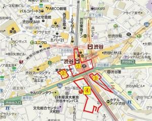 渋谷駅開発①~④