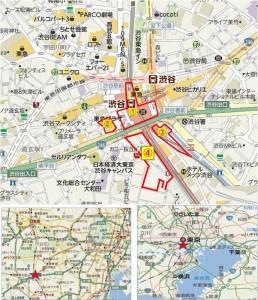 ◆地図 渋谷駅開発①~④