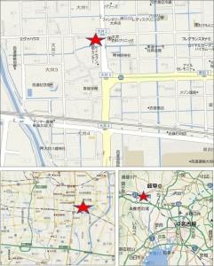●地図クスリのアオキ大井店