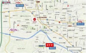 ●地図タチヤ関稲口店