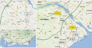 ◆地図 スーパーカネハチ片岡店
