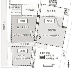 港明商業施設区分図