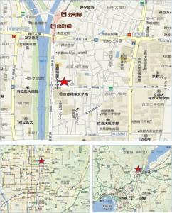 ライフ川端東一条店 地図●