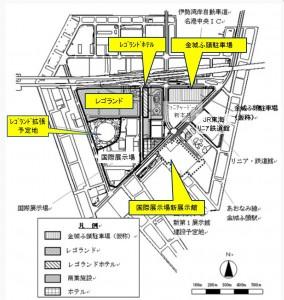 金城ふ頭配置図●