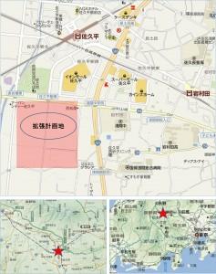 ●拡張予定地イオンモール佐久平地図