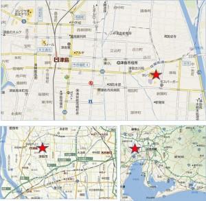 □地図ヨシヅヤグランシア津島本店