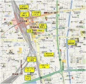 名古屋駅周辺開発地図◆