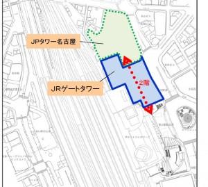 JRゲートタワー連絡通路イメーシ゛図
