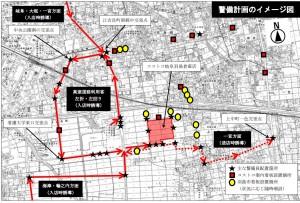 コストコ岐阜羽島市警備図