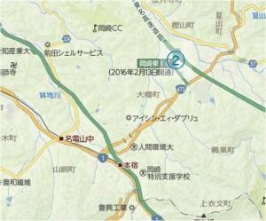 □地図 岡崎東IC
