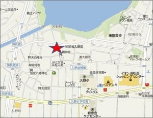 地図-1 クックマート左鳴湖南店