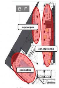 B1階配置図