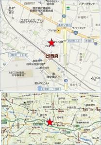 オーケー西府店地図●