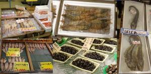 ■店内タナカゲンゲとしじみ若蟹20160122大漁市場なかうら