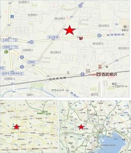 ◇地図 いなげや保谷本町店