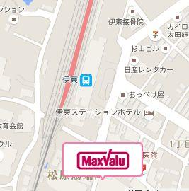 マックスバリュ伊東駅前店 地図-1