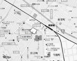 DCMカーマ安城住吉店 位置図