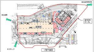 広島駅周辺開発1階平面図