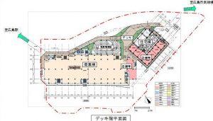 広島駅周辺開発2階平面図