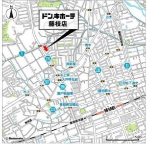 ドン・キホーテ藤枝店 地図