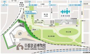 京都鉄道博物館付近地図